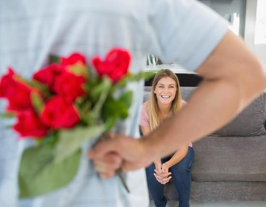 regalar flores chica