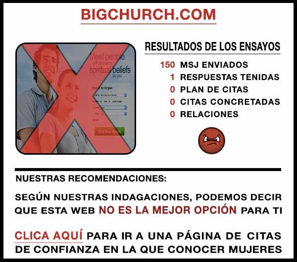 El sitio web BigChurch
