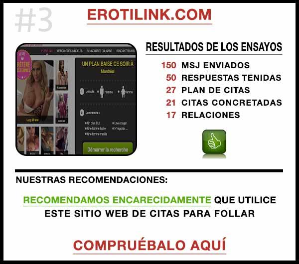 El sitio web ErotiLink