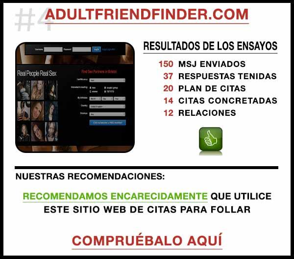 El sitio web AdultFriendFinder