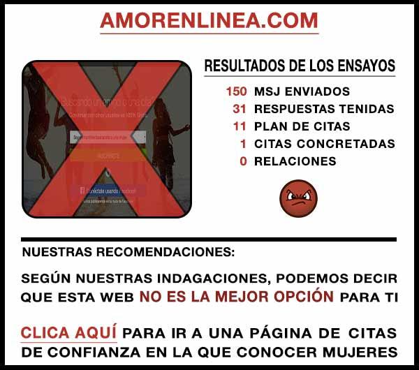 El sitio web AmorEnLinea