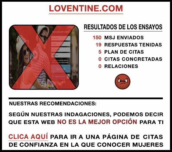 El sitio web Loventine