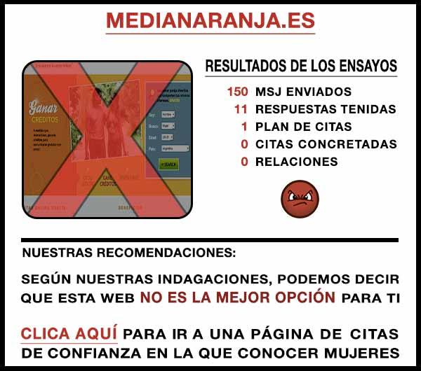 El sitio web MediaNaranja