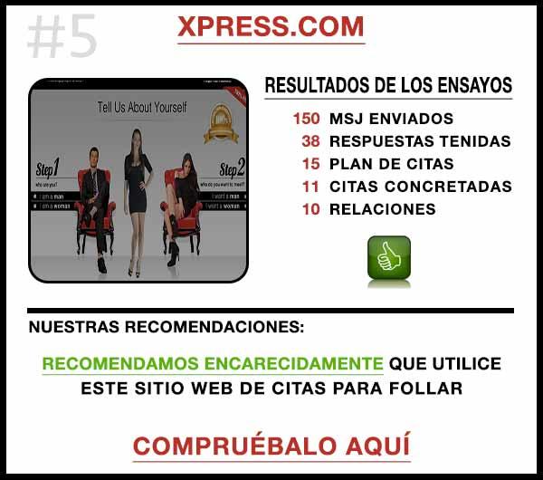 El sitio web Xpress